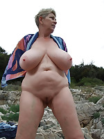 Mature nudist dames with huge breasts - Chubby Naturists