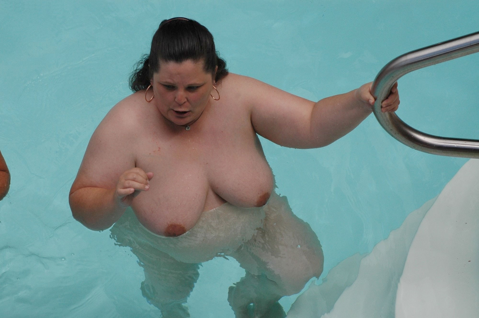 Big breasted mature dames swimming nude in pool - Chubby ...